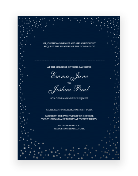 Sparkle Wedding Invitation - Luxury Wedding Stationery by The Foil Invite Company