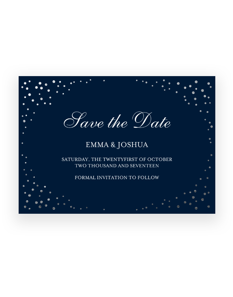 Luxury Save the Date Cards and Magnets - Sparkle Hand Foil Printed - Foil Invite Company Luxury Wedding Stationery