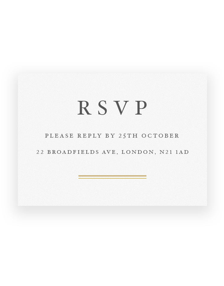 Sunburst Wedding RSVP Cards - Foil Printed - Luxury Wedding Stationery by The Foil Invite Company