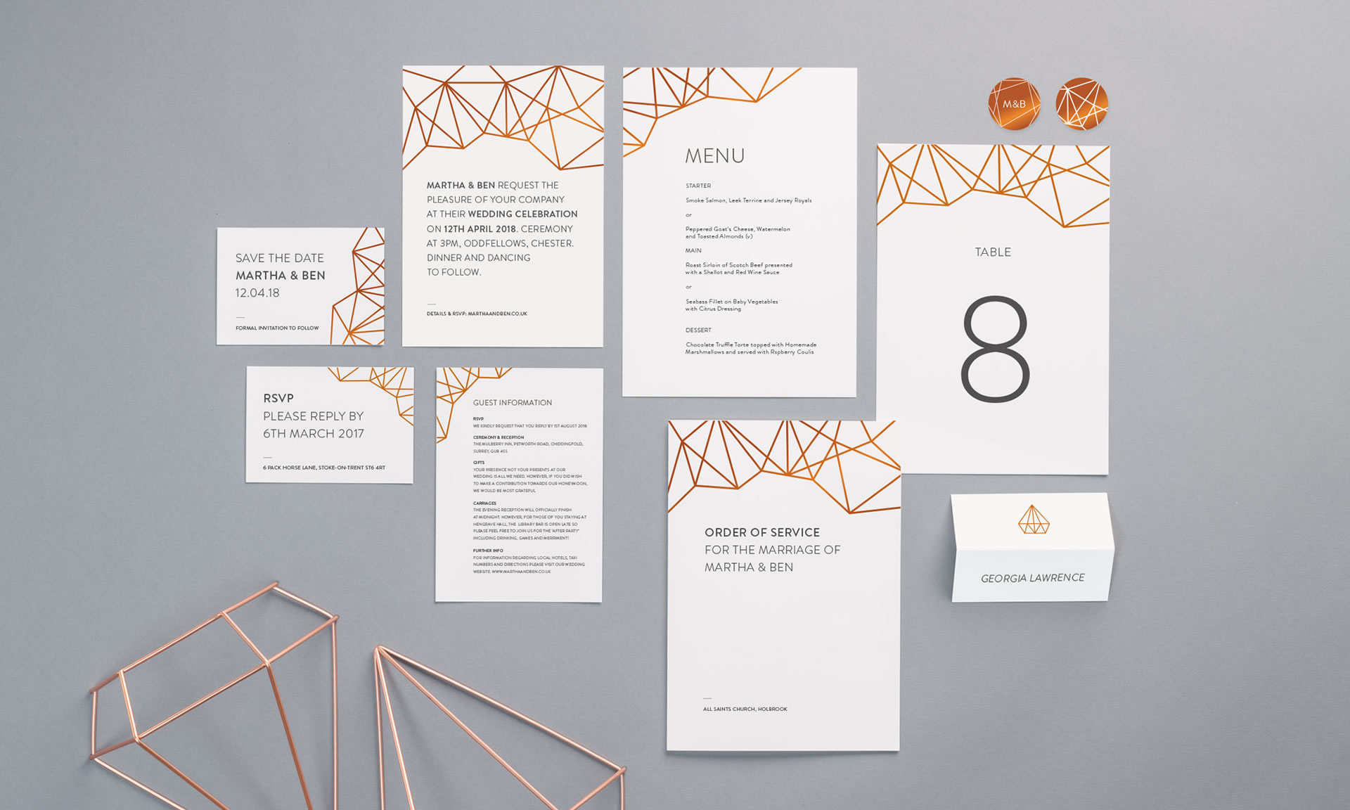 Foil Invite Company - Geometric Collection
