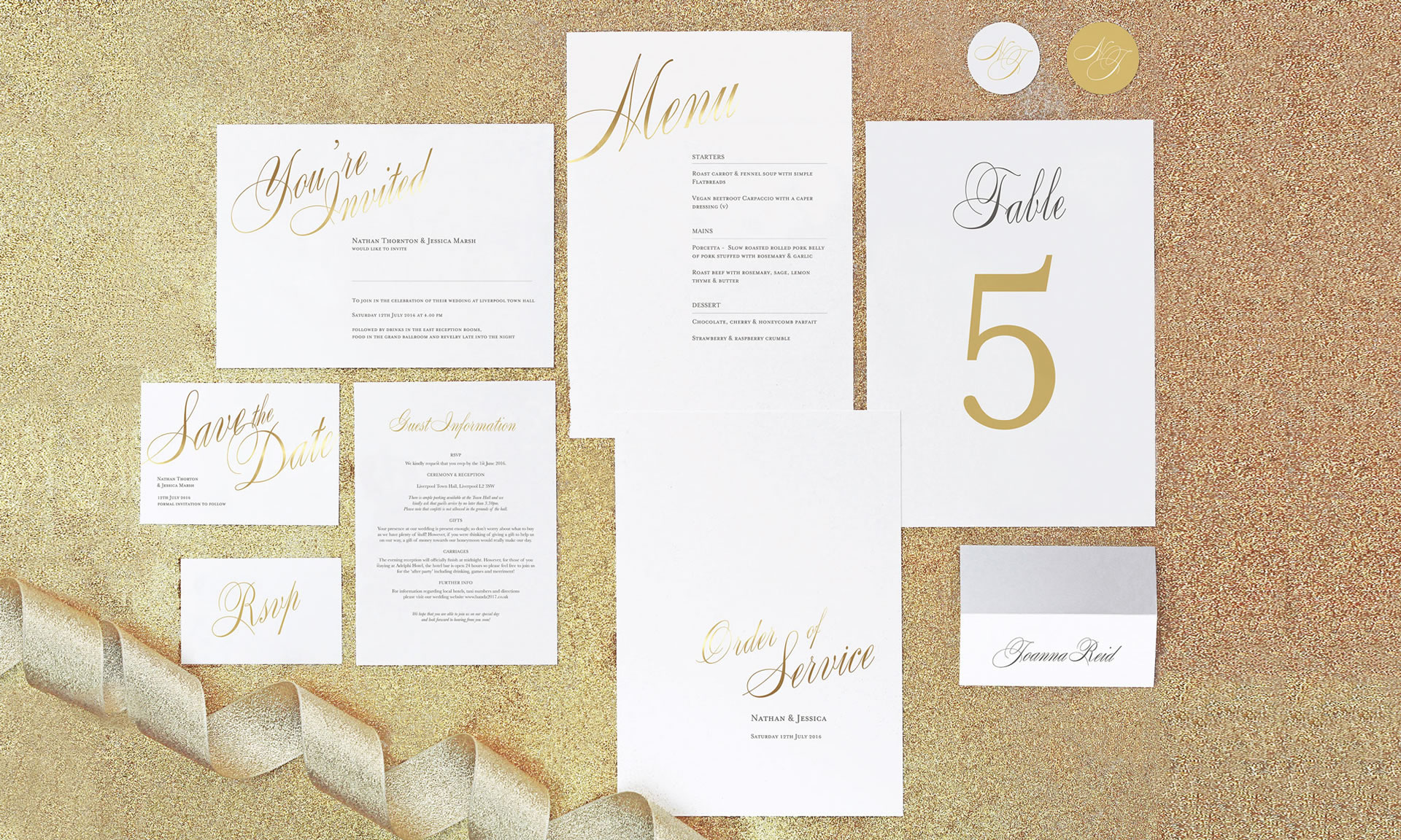 Foil Invite Company - Pemberley Collection