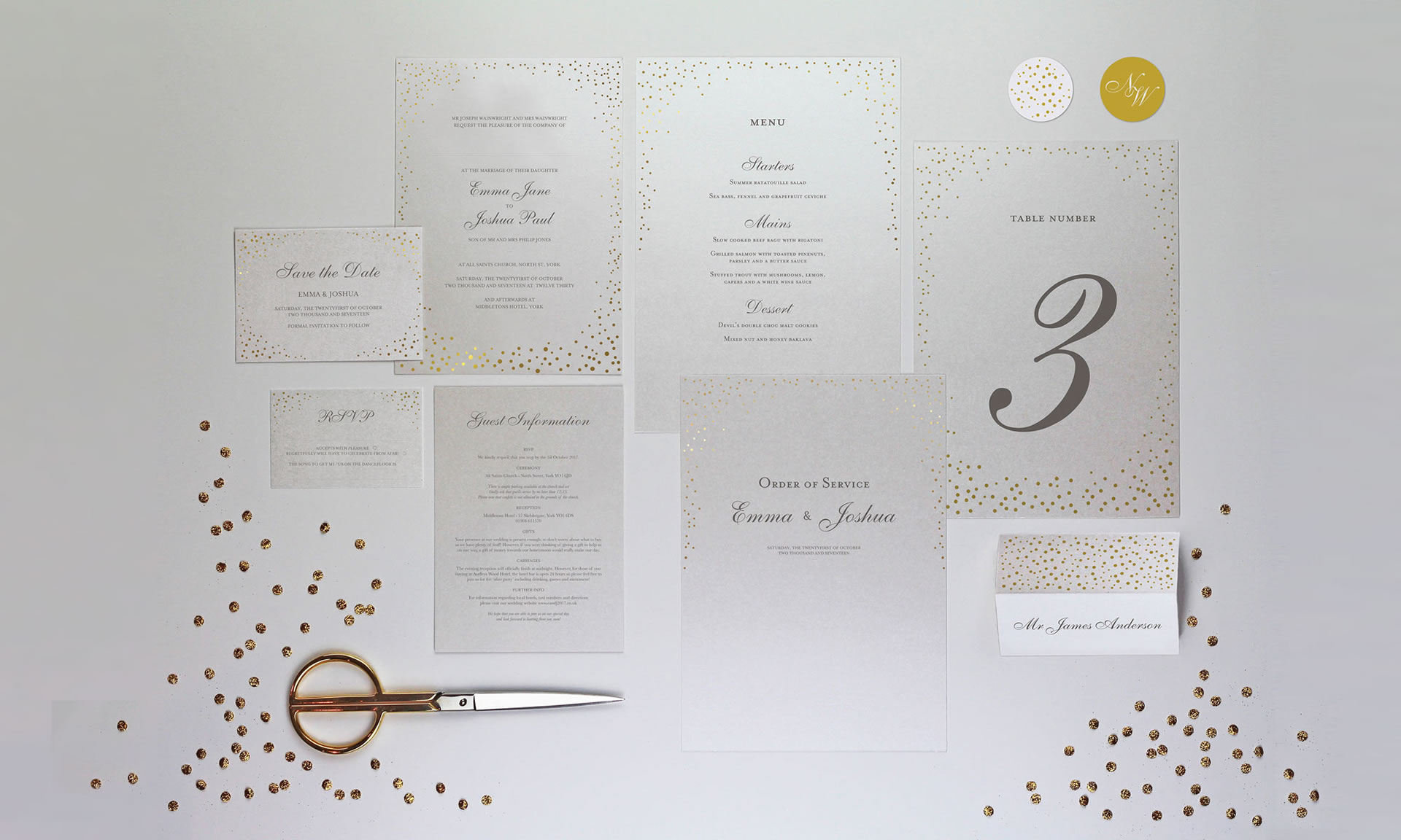 Foil Invite Company - Sparkle Collection
