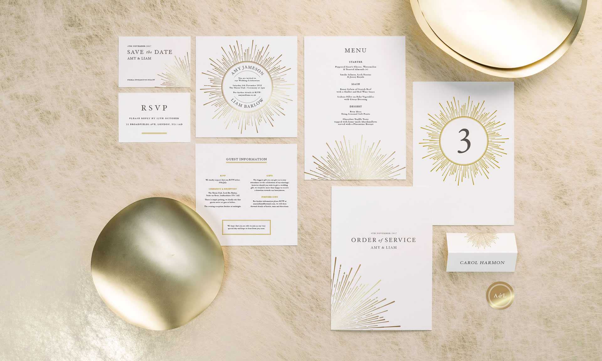 Foil Invite Company - Sunburst Collection