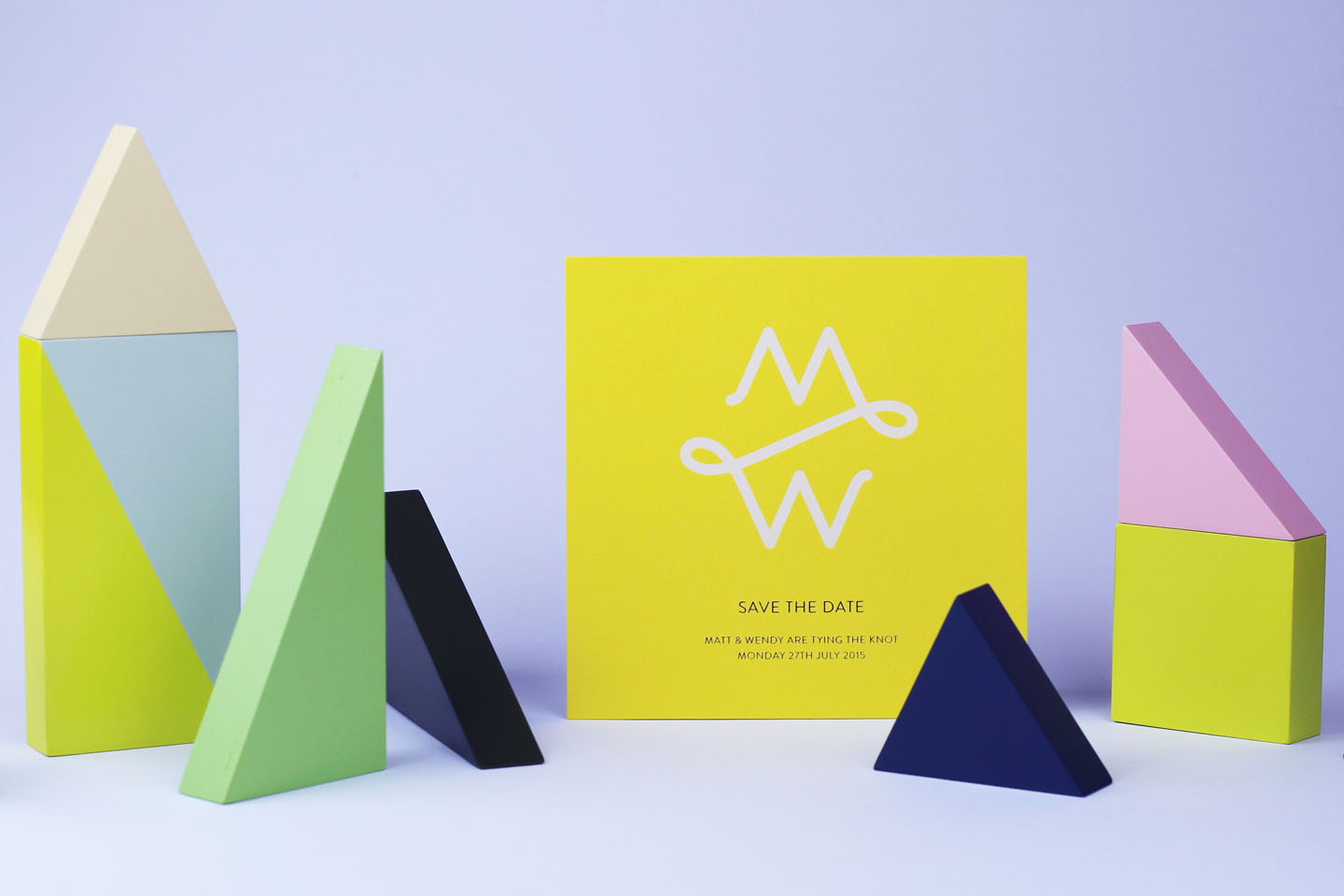 Summer Wedding Ideas - Yellow Colour Scheme - Luxury Stationery by The Foil Invite Company