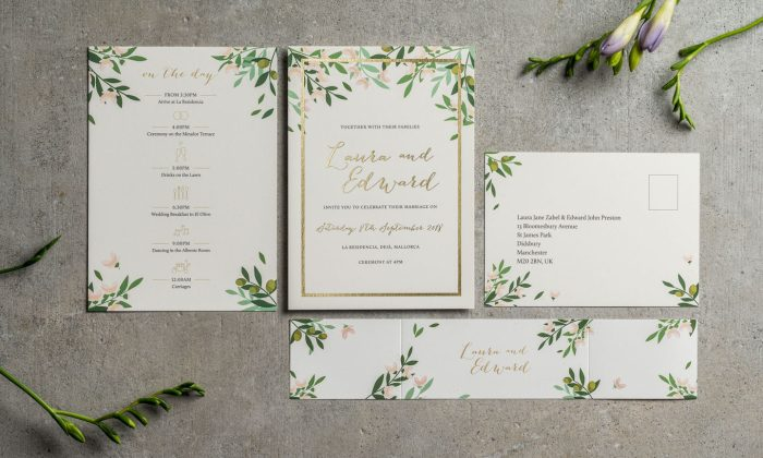 Choose Your Own Flowers - Bespoke Wedding Stationery by The Foil Invite Company