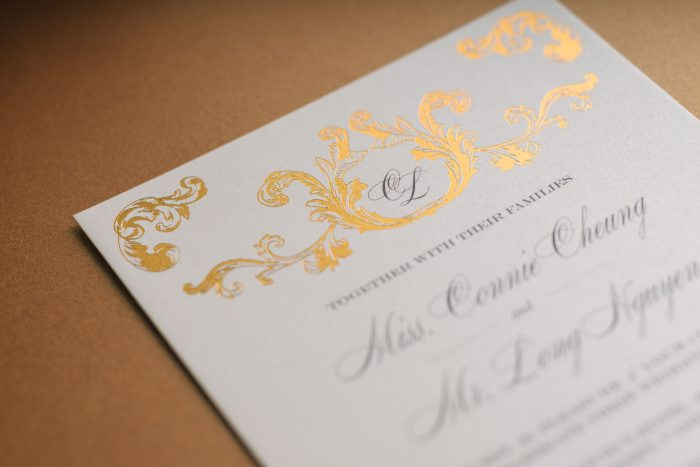 Foil Wedding Invitations - Beaumont Collection | Copper Foil Wedding Invitations | Elegant Wedding Stationery | Luxury Wedding Stationery by the Foil Invite Company