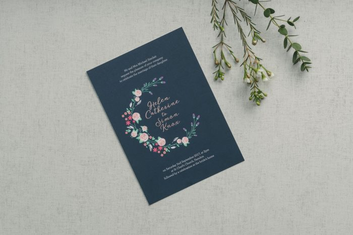 Countryside Wedding Invitations - Farndon | Rose Gold Foil Wedding Stationery | Floral Wedding Invitations | Luxury Wedding Invitations by the Foil Invite Company