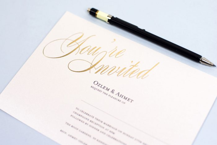 Gold Foil Wedding Invitations - Pemberley | Elegant Wedding Stationery | Foil Wedding Invitations by the Foil Invite Company