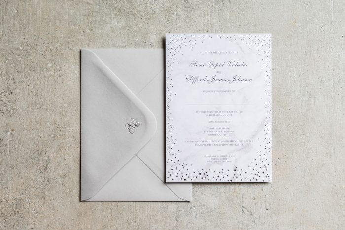 Elegant Wedding Stationery Set - Sparkle Collection | Silver Foil Wedding Invitations | Silver Foil Wedding Invitation Envelopes | Silver Wedding Invitations | Luxury Wedding Invitations by the Foil Invite Company