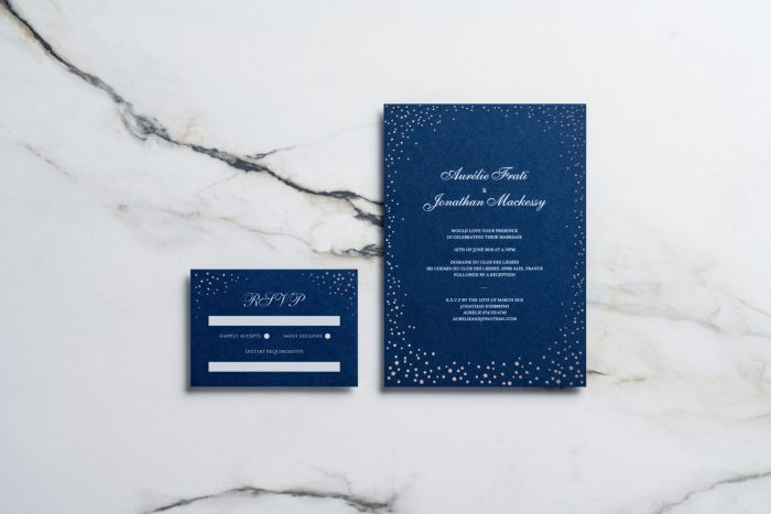 Sparkle Invitation and RSVP Card