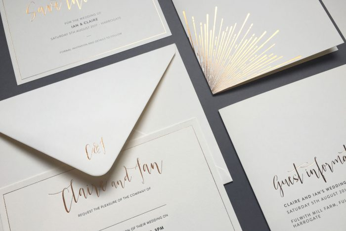Bespoke Wedding Stationery | Bespoke Wedding Invitations | Foil Wedding Stationery | Luxury Wedding Stationery by The Foil Invite Company