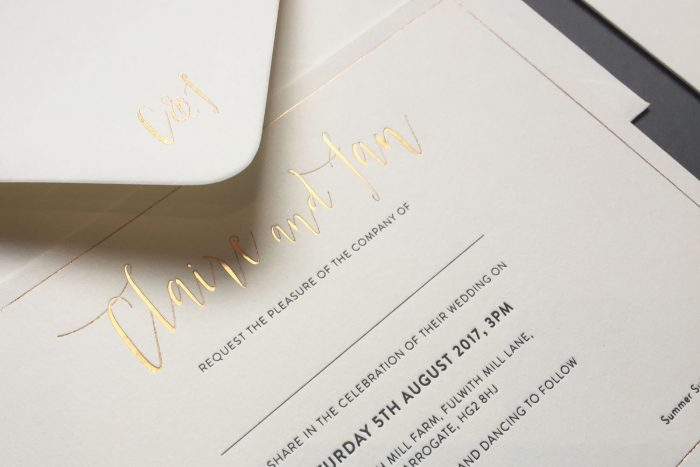 Bespoke Wedding Invitations | Gold Foil Wedding Stationery Set | Gold Foil Wedding Invitations | Bespoke Wedding Invitations by the Foil Invite Company