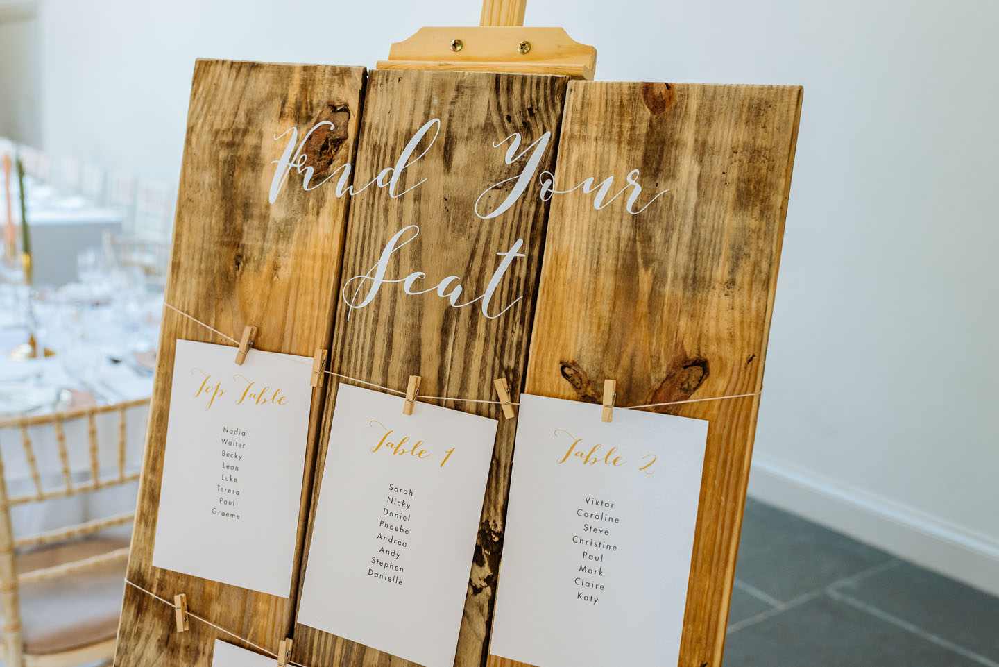 Rustic Wedding Table Plan - Louise Wedding Stationery - Autumn Wedding Ideas - Luxury Wedding Stationery by the Foil Invite Company