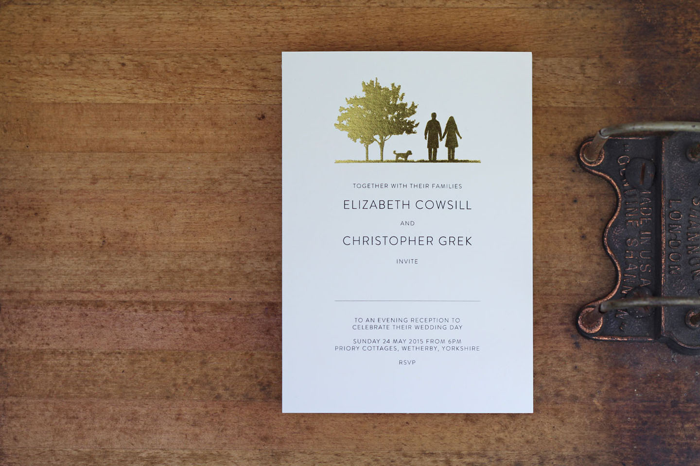 Gold Foil Wedding Invitations - Country Walk Wedding Invitation - Autumn Wedding Ideas - Luxury Wedding Stationery by the Foil Invite Company