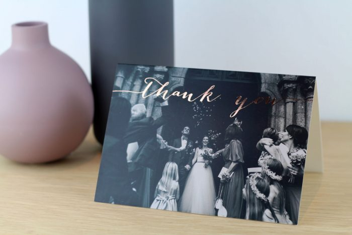 Wedding Photo Thank You Cards - Louise Collection | Wedding Thank You Cards | Rose Gold Foil Thank You Cards | Luxury Wedding Stationery by the Foil Invite Company