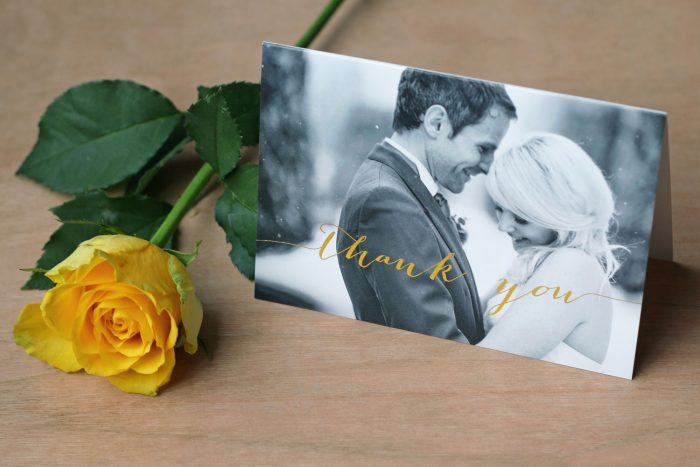 Wedding Photo Thank You Cards - Louise | Wedding Thank You Cards | Gold Foil Thank You Cards | Luxury Wedding Stationery by the Foil Invite Company