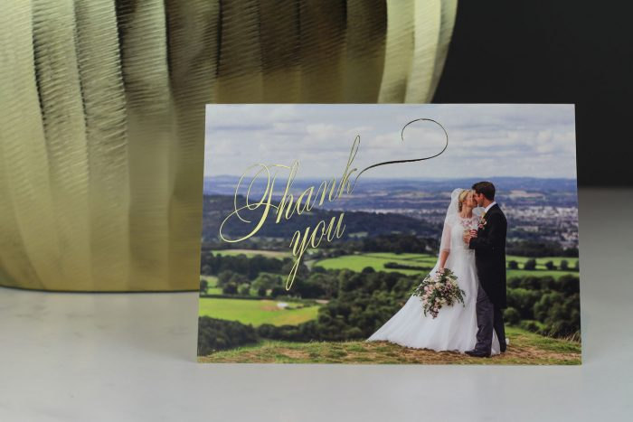 Wedding Photo Thank You Cards - Pemberley | Wedding Thank You Cards | Gold Foil Thank You Cards | Luxury Wedding Stationery by the Foil Invite Company