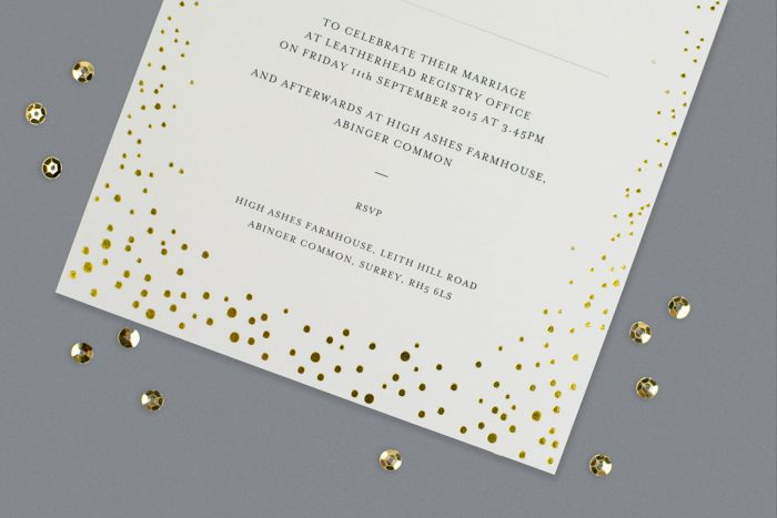 Gold Foil Wedding Invitations - Sparkle Collection | Gold Foil Wedding Stationery | White and Gold Wedding Invitations | Luxury Wedding Stationery by the Foil Invite Company