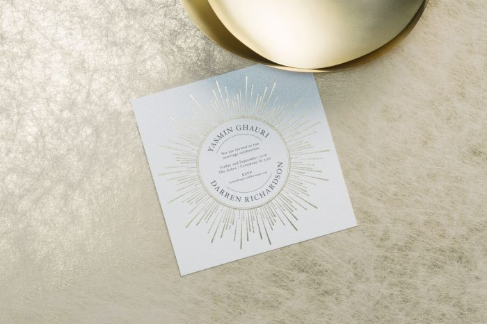 Gold Foil Wedding Invitations - Sunburst Collection | Gold Foil Wedding Stationery | Sunny Summer Wedding Ideas | Luxury Wedding Invitations by the Foil Invite Company