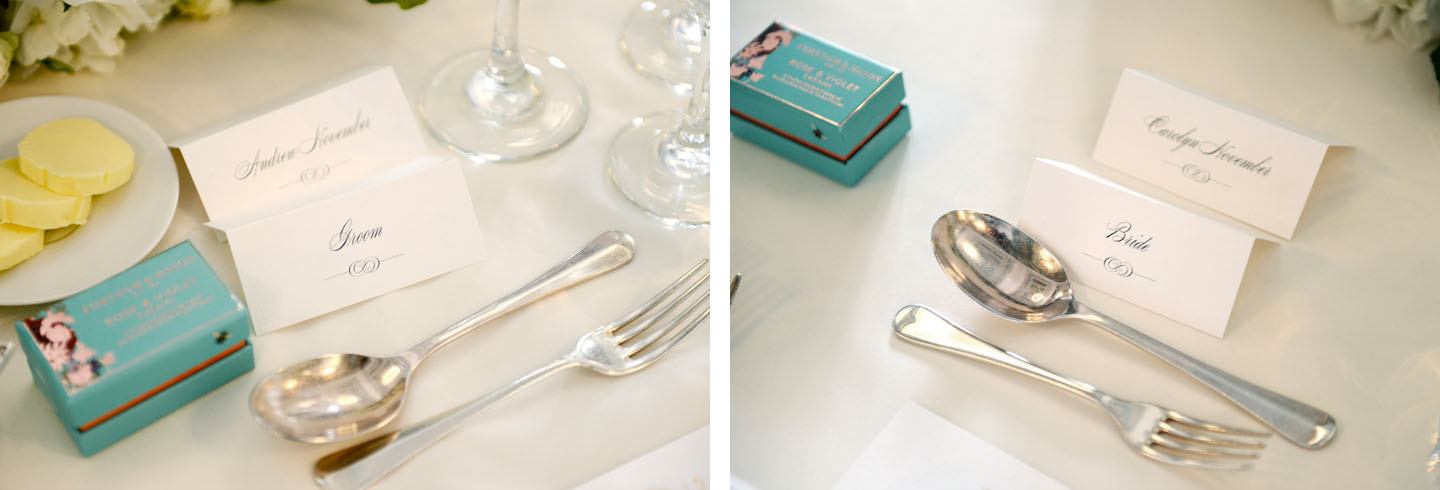 Wedding Place Cards - Beaumont| Real Wedding Stories | Edinburgh Wedding Inspiration from Carolyn and Andrew | The Foil Invite Company Blog