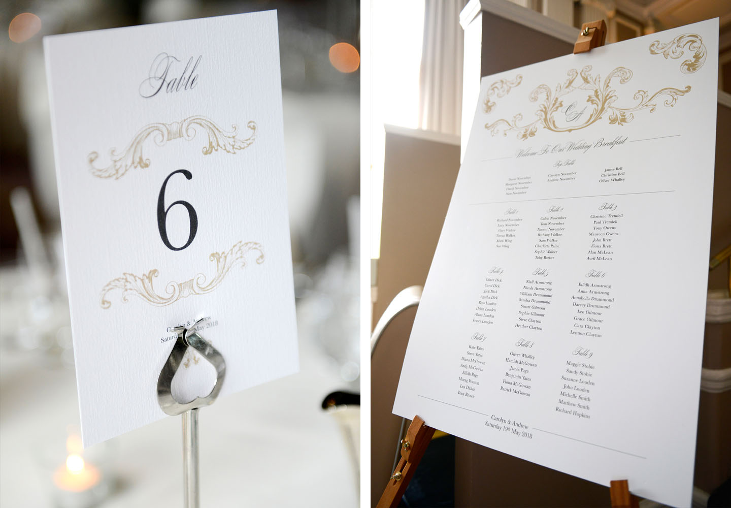 Elegant On the Day Wedding Stationery - Beaumont| Real Wedding Stories | Edinburgh Wedding Inspiration from Carolyn and Andrew | The Foil Invite Company Blog