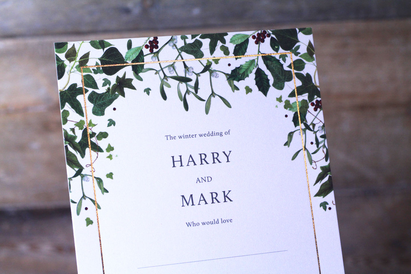 Christmas Wedding Invitations.10 Gorgeous Winter Wedding Stationery Ideas The Foil