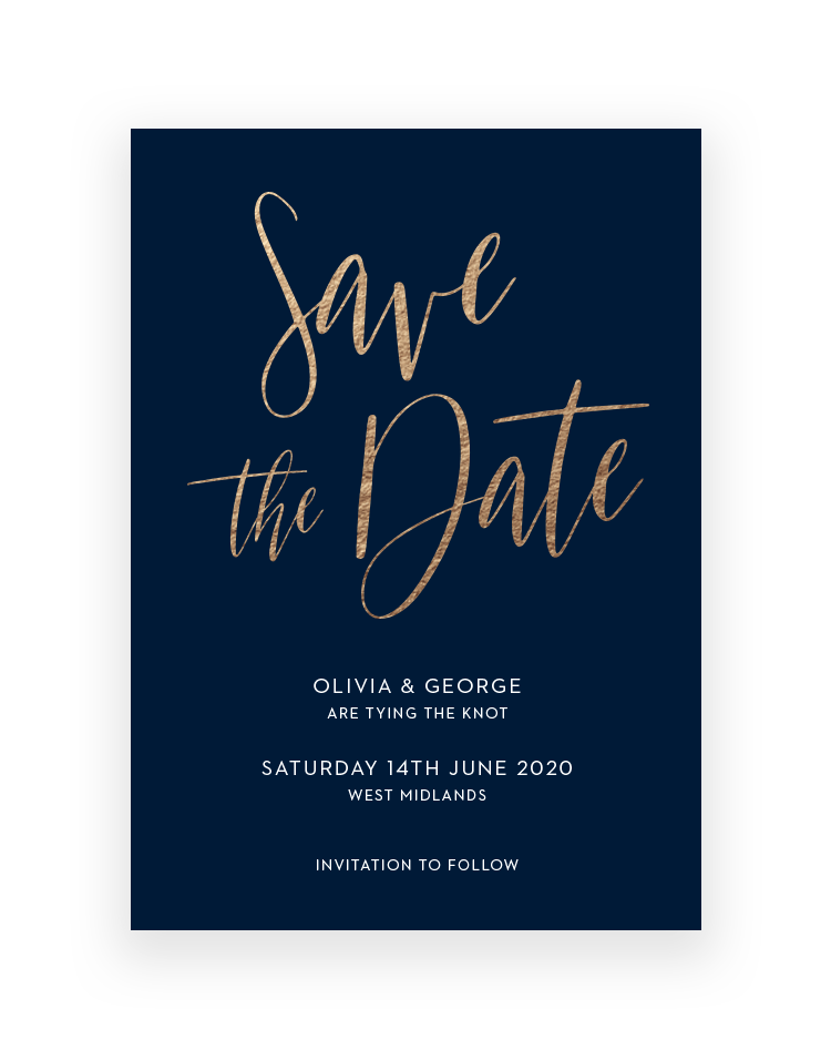 Save the Date Cards and Magnets | Carnaby by The Foil Invite Company