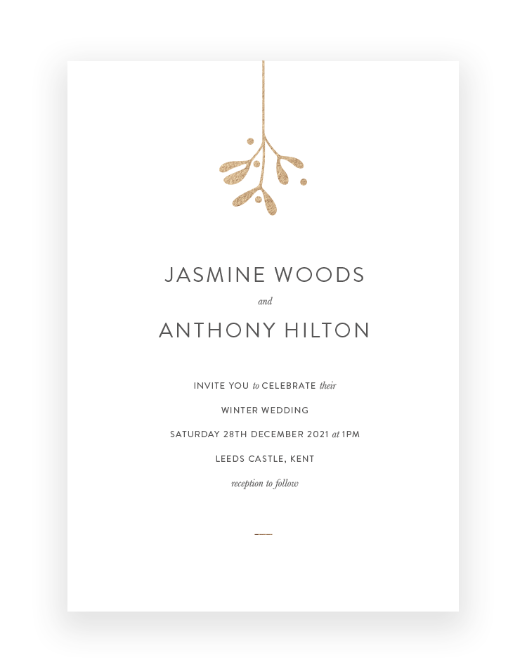 Winter Wedding Invitations Blog | Mistletoe by The Foil Invite Company