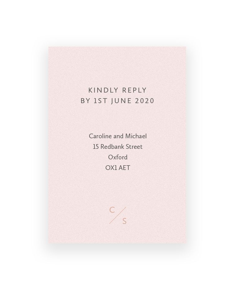 Wedding RSVP Cards - Personalised with a Monogram | Sarto Sans by The Foil Invite Company
