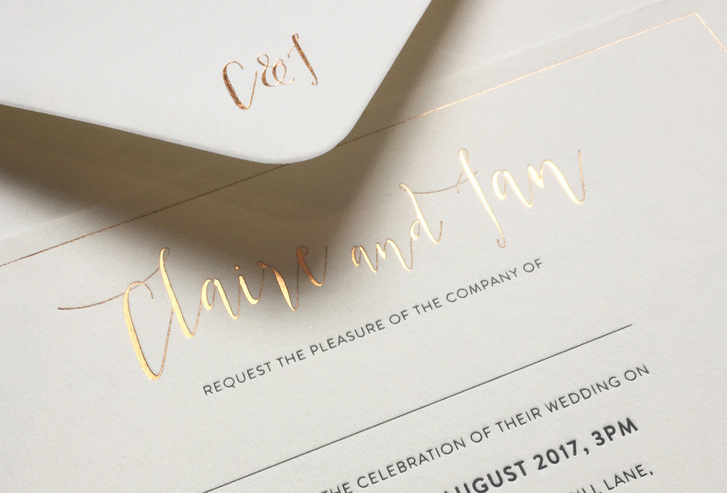 Gold Foil Wedding Invitations | Hottest Luxury Wedding Stationery Trends 2019 | Foil Invite Company Blog