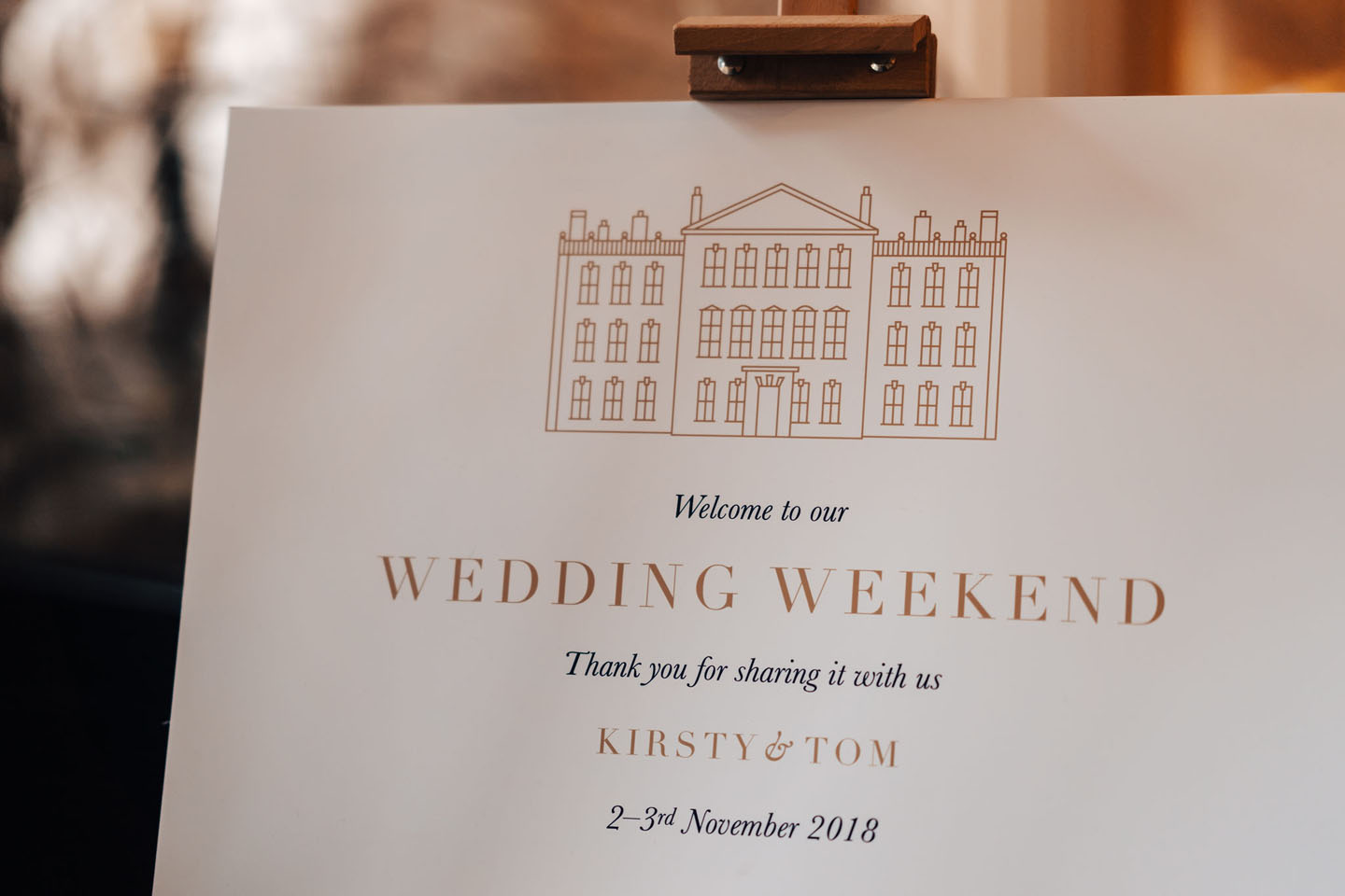 Wedding Welcome Sign Aynhoe Park | Hottest Luxury Wedding Stationery Trends 2019 | Foil Invite Company Blog