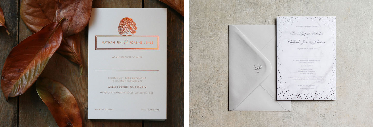 Ways to Choose Your Wedding Colour Scheme Blog | Autumn and Winter Stationery by The Foil Invite Company