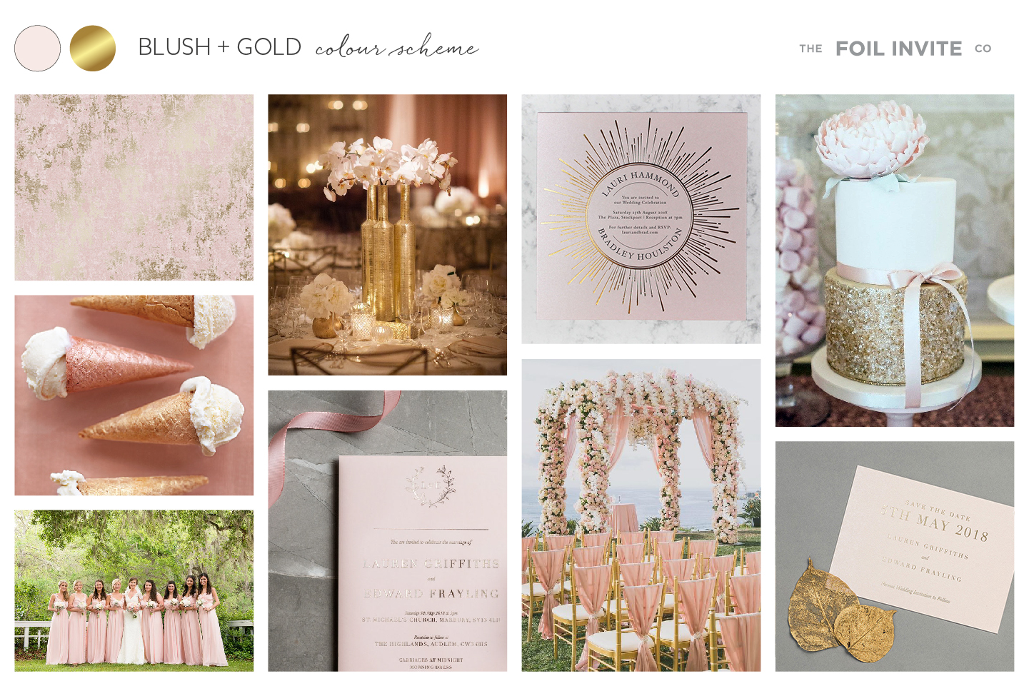 Blush and Gold Wedding Stationery Blog | Blush and Gold Wedding Invitations by The Foil Invite Company