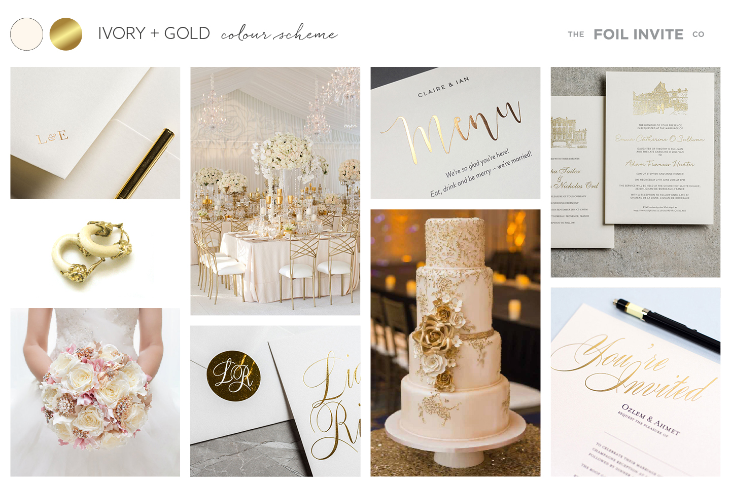 Ivory and Gold Wedding Stationery Blog | Ivory and Gold Wedding Invitations by The Foil Invite Company