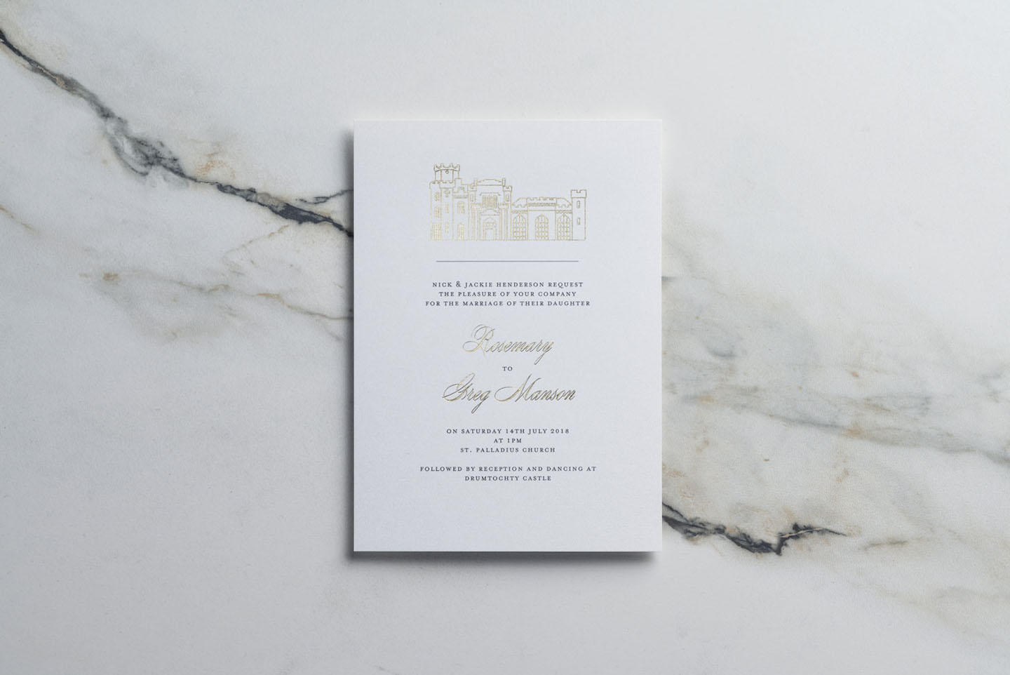 Ways to Choose Your Wedding Colour Scheme Blog | Drumtochty Castle | Gold Foil Wedding Invitations by The Foil Invite Company