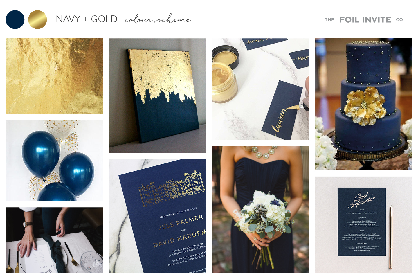 Navy and Gold Wedding Stationery Blog | Navy and Gold Wedding Invitations by The Foil Invite Company