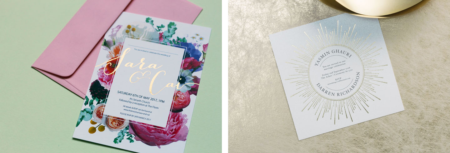 Ways to Choose Your Wedding Colour Scheme Blog | Spring and Summer Stationery by The Foil Invite Company