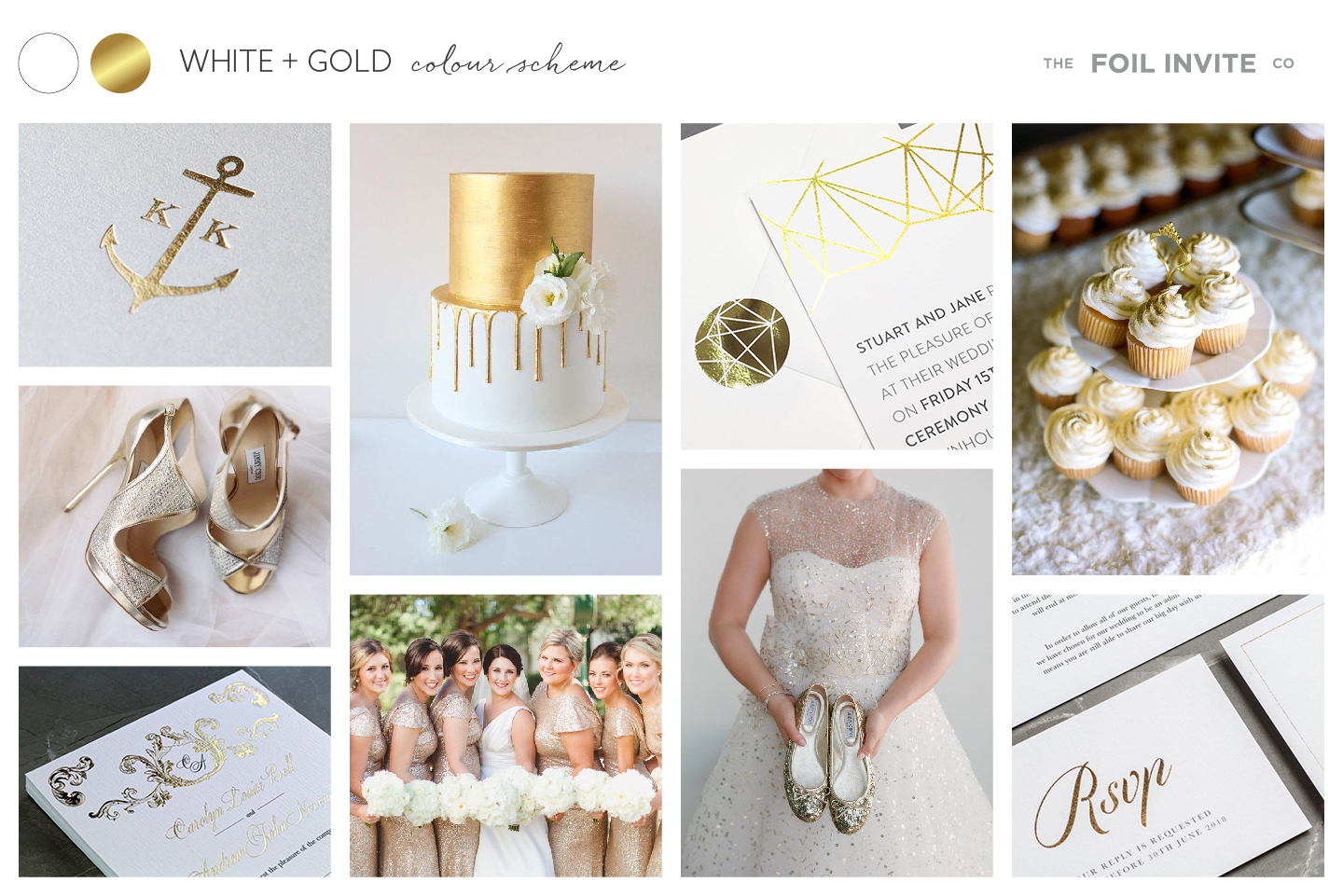 White and Gold Wedding Stationery Blog | White and Gold Wedding Invitations by The Foil Invite Company
