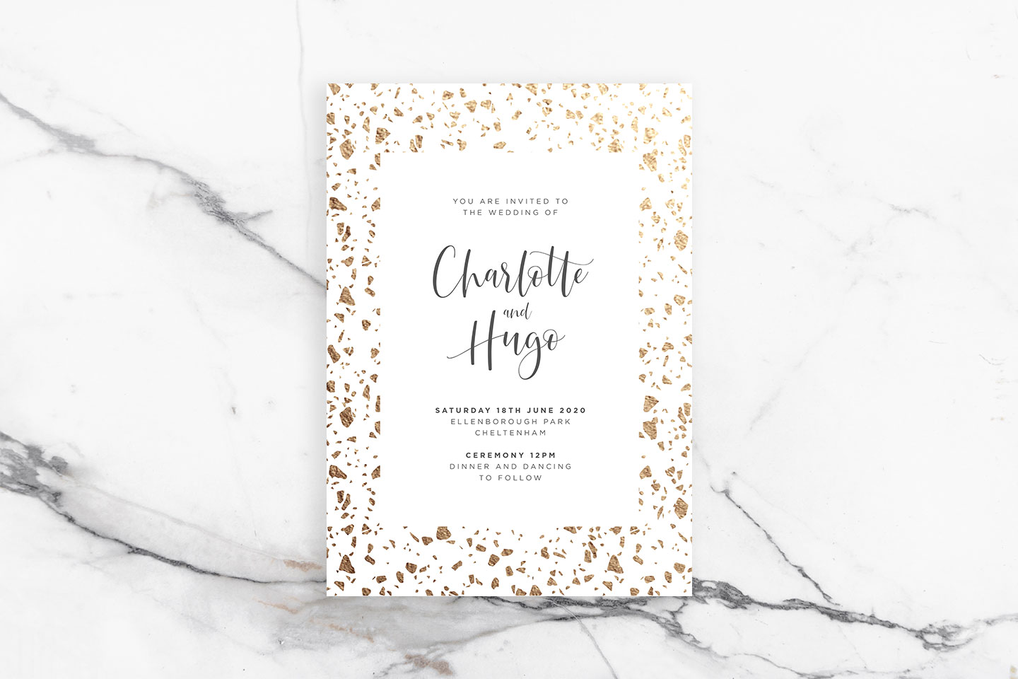 Ways to Choose Your Wedding Colour Scheme Blog | Terrazzo Wedding Invitations by The Foil Invite Company