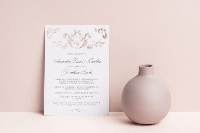 Foil Wedding Invitations - Beaumont Collection | Rose Gold Foil | Luxury Wedding Stationery by the Foil Invite Company