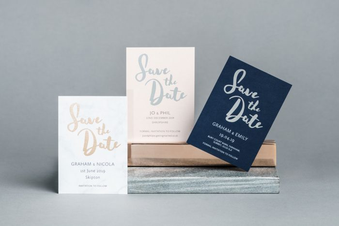 Foil Save the Date Cards - Rockwell Collection | Save the Date Wedding Cards and Magnets by the Foil Invite Company