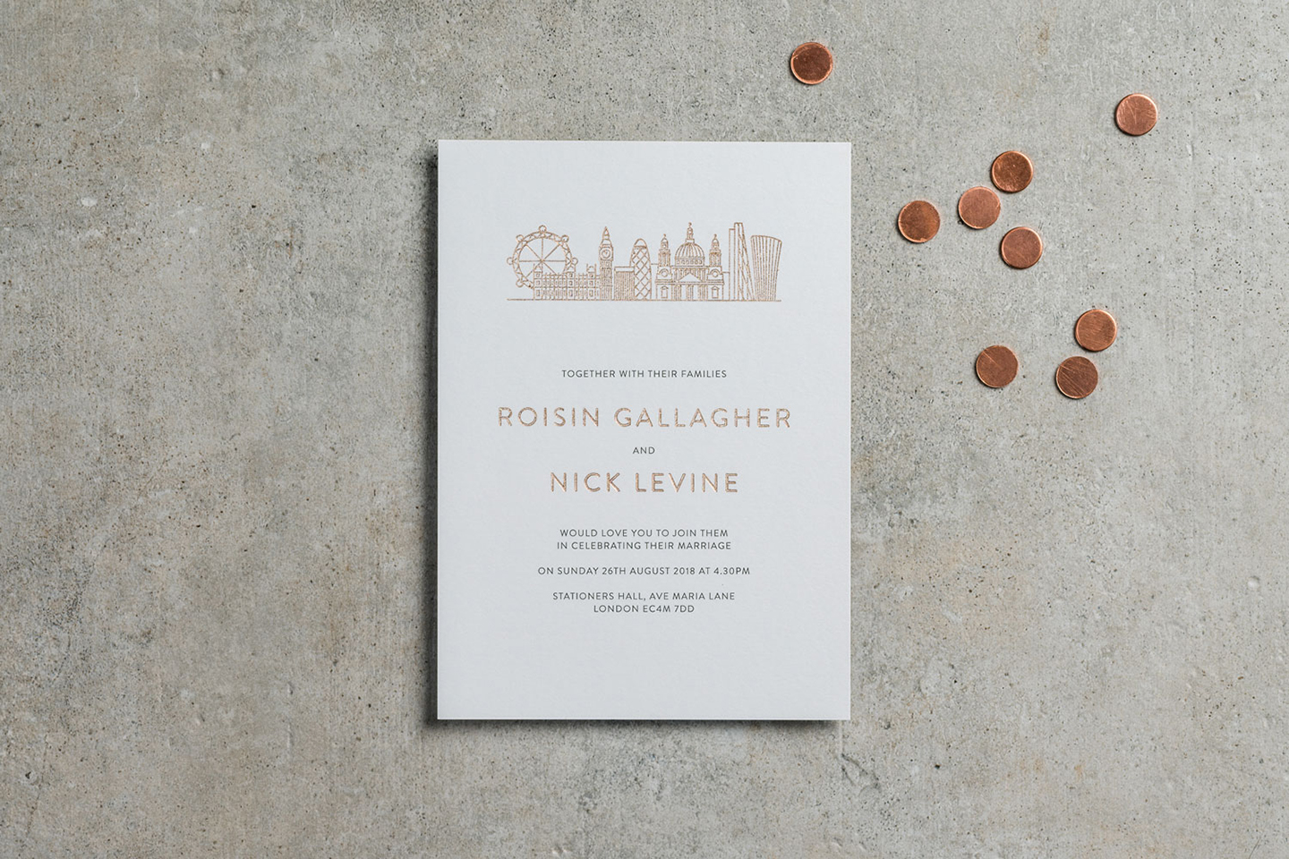 City Skyline Wedding Invitations | Top Wedding Stationery Trends 2020 | Foil Invite Company Blog