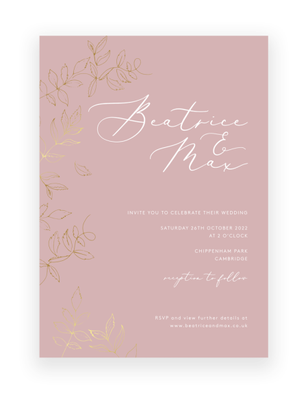Sonnet Invitation with Gold Foil