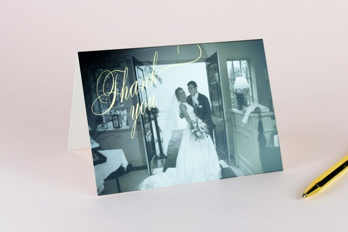 Pemberley Thank You Card Gold Foil