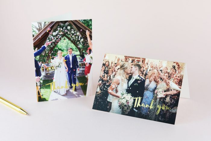 Rockwell Thank You Cards Gold Foil