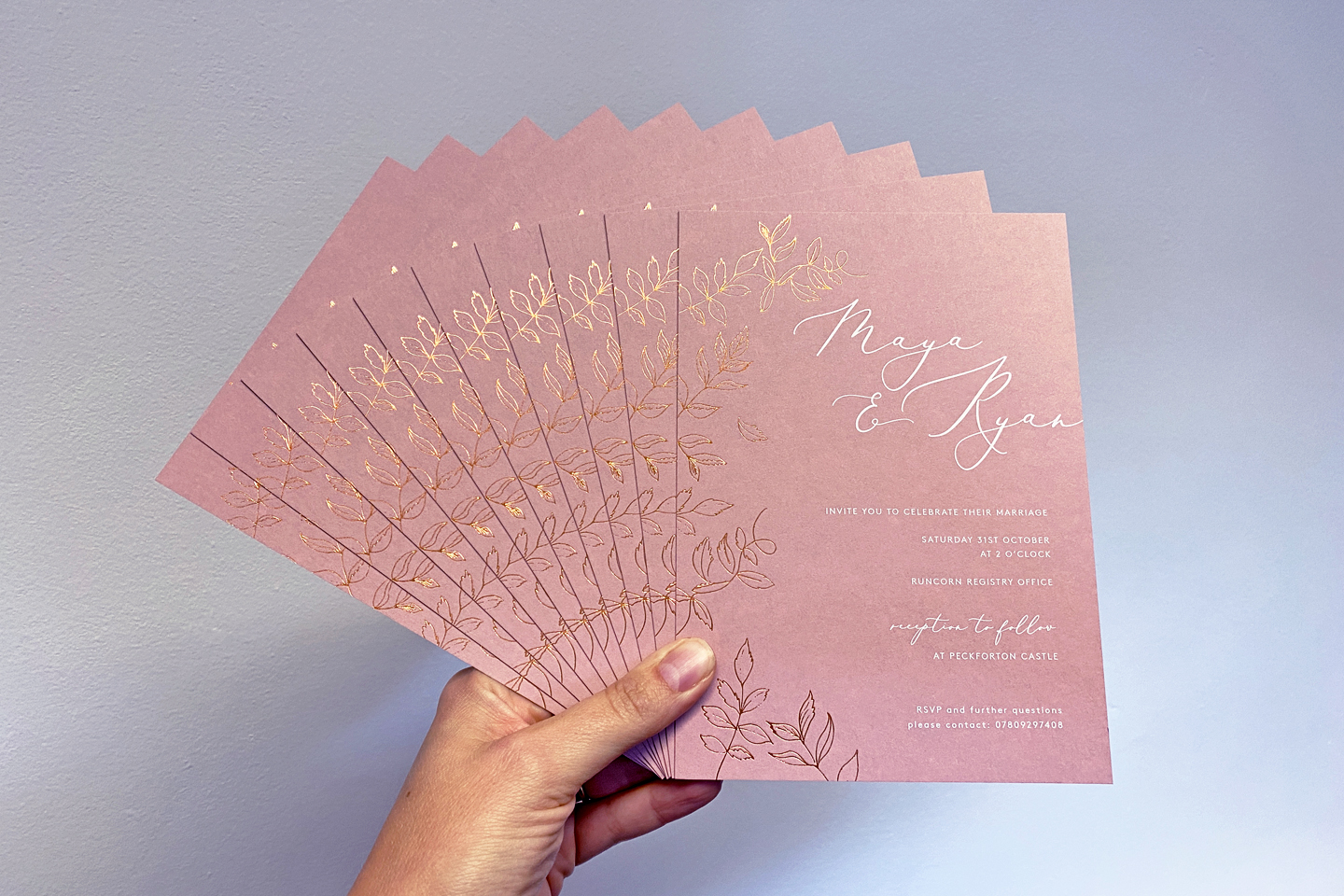 invitations for a 15 guest micro wedding